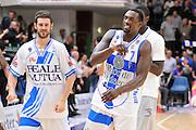 DESCRIZIONE : Campionato 2014/15 Dinamo Banco di Sardegna Sassari - Umana Reyer Venezia<br /> GIOCATORE : Matteo Formanti Rakim Sanders<br /> CATEGORIA : Post Game Postgame Esultanza<br /> SQUADRA : Dinamo Banco di Sardegna Sassari<br /> EVENTO : LegaBasket Serie A Beko 2014/2015<br /> GARA : Dinamo Banco di Sardegna Sassari - Umana Reyer Venezia<br /> DATA : 03/05/2015<br /> SPORT : Pallacanestro <br /> AUTORE : Agenzia Ciamillo-Castoria/C.Atzori