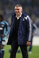 Photo: Maarten Straetemans/Sportsbeat Images.<br /> Shalke 04 v Chelsea. UEFA Champions League. 06/11/2007.<br /> Schalke coach Mirko Slomka greets the fans after the game
