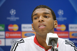 MARSEILLE, FRANCE - Friday, November 2, 2007: Liverpool's Ryan Babel at a press conference at the Stade Velodrome ahead of the final UEFA Champions League Group A match against Olympique de Marseille. Liverpool must win to progress to the knock-out stage. (Photo by David Rawcliffe/Propaganda)
