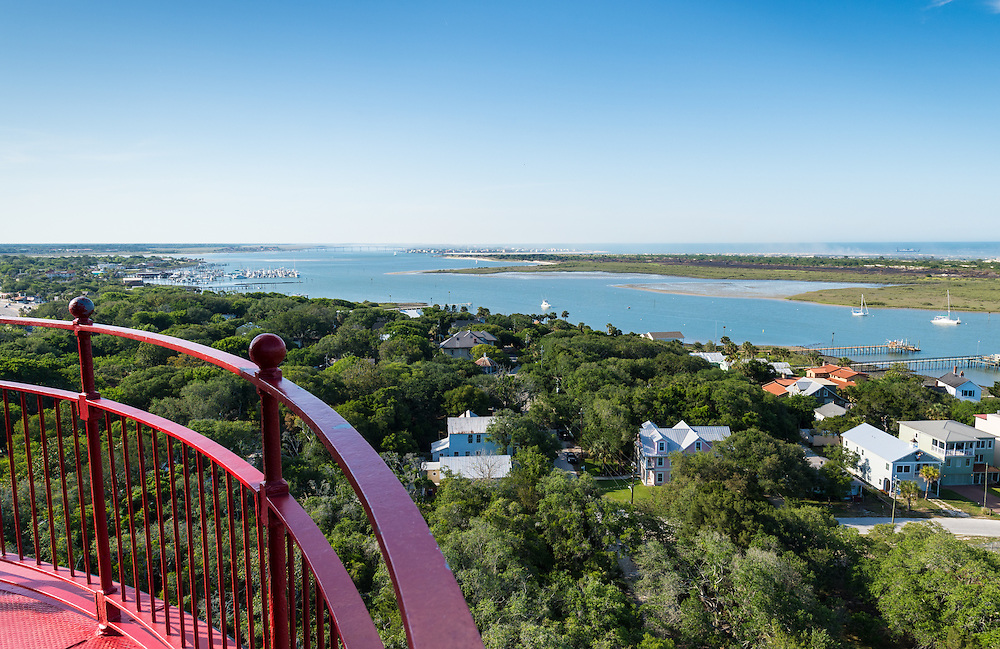 View of the Matanzas River and Bay from the top of the St. Augustine Lighthouse