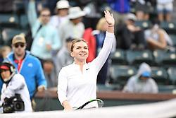 March 8, 2019 - Palm Desert, California, Usa - Tennis : BNP Paribas Open 2019 - Simona Halep - Roumanie (Credit Image: © Panoramic via ZUMA Press)