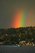 Mother Nature shows her colors after a break in the rain showers off Pritchard Island Beach in the Rainier Beach neighborhood.  <br /> <br /> Jim Bates / The Seattle Times