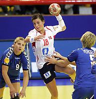05.12.2008 Ohrid(FYR Macedonia)<br />Ukraine-Norway European women's handball championship<br />Riegelhuth Linn Kristin (c)Norway and Shymkute Rehina (L) Ukraine <br />Foto:Aleksandar Djorovic