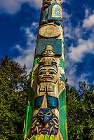Totem poles, Sitka National Historical Park, Sitka, Alaska USA.