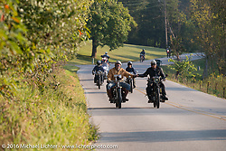 Motorcycle Cannonball Race of the Century. Stage-5 from Bloomington, IN to Cape Girardeau, MO. USA. Wednesday September 14, 2016. Photography ©2016 Michael Lichter.