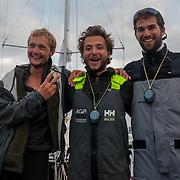 Course en solitaire de la classe mini entre les Sables d'Olonne et l'île de Faïal aux Açores. Courses en 2 étapes. 2540 miles