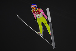 February 10, 2018 - Pyeonchang, Gangwon, South Korea - Viktor Polasek of Czech Republic at mens normal hill final at 2018 Pyeongchang winter olympics at Alpensia Ski Jumping Centre, Pyeongchang, South Korea on February 10, 2018. Ulrik Pedersen/Nurphoto  (Credit Image: © Ulrik Pedersen/NurPhoto via ZUMA Press)