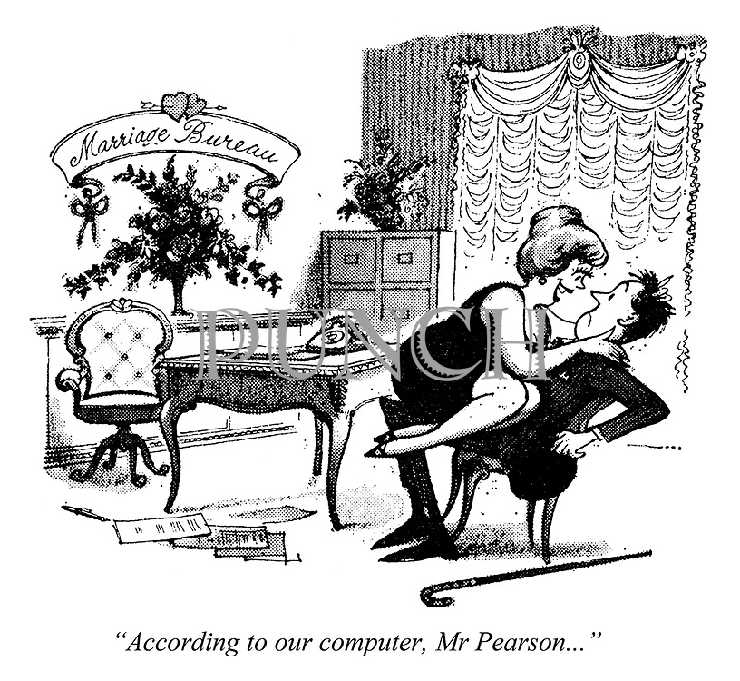"""Computed wedlock. """"According to our computer, Mr Pearson..."""""""