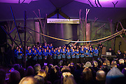 FINCHLEY CHILDRENS MUSIC GROUP, Fundraising Gala for the Zeitz foundation and Zoological Society of London hosted by Usain Bolt. . London Zoo. Regent's Park. London. 22 November 2012.