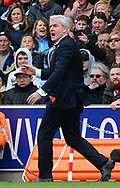 Mark Hughes, manager of Stoke city on the touchline. Premier league match, Stoke City v West Ham Utd at the Bet365 Stadium in Stoke on Trent, Staffs on Saturday 29th April 2017.<br /> pic by Bradley Collyer, Andrew Orchard sports photography.