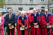 08/07/2018  repro  free:  Garry McMahon, galway City Council, Cllr Declan McDonnell,  Cllr  Noel Larkin  and Cllr. Billy Cameron   at the National Day of Commemoration Ceremony at NUI Galway in honour of all those Irishmen and Irish Women who served in pas wars or on service with the UN.Photo:Andrew Downes, XPOSURE
