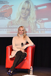Ex-Baywatch babe Pamela Anderson appears on stage at the 25th Paris Manga Manga & Sci-Fi Show held at Parc des Expositions in Paris, France on February 3, 2018. Anderson has taken her relationship with her much younger beau French football star Adil Rami, 31, to the next life by moving into his home in Marseille. Photo by Alain Apaydin/ABACAPRESS.COM