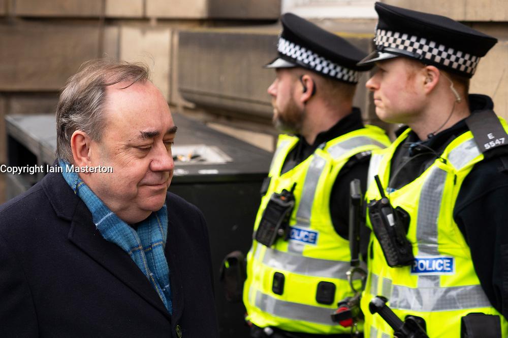 Edinburgh, Scotland, UK. 13 March, 2020. Alex Salmond leaves the High Court in Edinburgh on day five of his trial. Iain Masterton/Alamy Live News