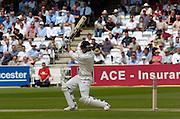 2004 1st NPower Test  - England v New Zealand. <br /> 20/05/2004<br /> Stephen Fleming follows the flight of the ball<br /> <br /> <br />  <br /> <br />     [Credit Peter Spurrier Intersport Images}