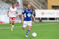 1. divisjon fotball 2015: Hødd - Fredrikstad. Hødds Magnus Waade Myklebust i førstedivisjonskampen mellom Hødd og Fredrikstad på Høddvoll.
