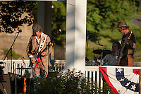 Michael Vincent Band starts off the first Summer concert series at Laconia's Rotary Park.  Karen Bobotas Photographer