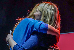 FILE:Picture : Labour MP and Shadow Secretary of State for Education, Angela embraces with her colleague Shadow business secretary Rebecca Long-Bailey    during an election campaign event at the O2 Apollo Manchester. Angela Rayner is possible to be one of the candidate to stand for the  leadership of the Labour Party , as Jeremy Corbyn he steps down after his defeat in the general elections.<br /> <br /> Giannis Alexopoulos | 17.12/2019