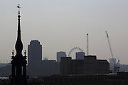 View from the open-air terrace at the top of One New Change, in the City of London
