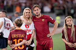 May 28, 2017 - Rome, Italy - Francesco Totti with his family on the field after his last  appearance in Rome after more than 20 years during the Serie A match between Roma and Genoa at Stadio Olimpico, Rome, Italy on 28 May 2017. (Credit Image: © Giuseppe Maffia/NurPhoto via ZUMA Press)