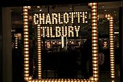 Charlotte Tilbury neon shop sign at night, Dublin, Ireland, Republic of Ireland