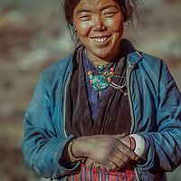 A village woman in Muktinath, Nepal.