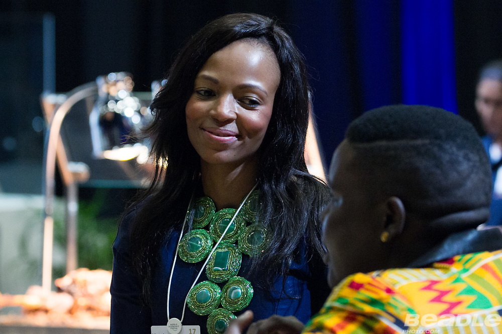 A female participant at the World Economic Forum on Africa 2017 in Durban, South Africa. Copyright by World Economic Forum / Greg Beadle