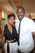 24 June 2010- Miami Beach, Florida- l to r: Jocelyn Taylor and Bernard Bronner at the The 2010 American Black Film Festival Founder's Brunch held at Emeril's on June 24, 2010. Photo Credit: Terrence Jennings/Sipa