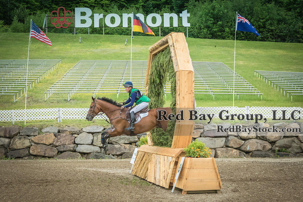 Kylie Lyman (USA) and Lup The Loop at the Jaguar Land Rover Bromont CCI in Bromont, Quebec.