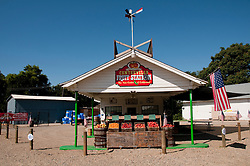 Centreville Fruit Station, Roadside produce stand, Centreville; between Fresno and Kings Canyon; California, USA.  Photo copyright Lee Foster.  Photo # california121566