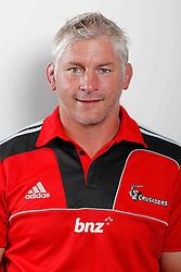 Coach Todd Blackadder. Crusaders Headshots. Investec Super Rugby, Rugby Park, Christchurch. Thursday 3 Febuary 2011 . Photo: Simon Watts/photosport.co.nz