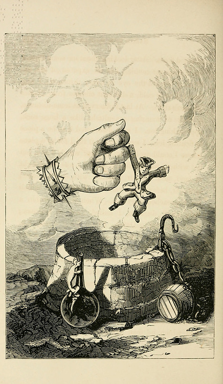 The travels and surprising adventures of Baron Munchausen; with illustrations by Alfred Henry Forrester [Alfred Crowquill] Published in New York, James Miller in 1860