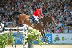 Garcia Juan Carlos, (ITA), Gitano Van Berkenbroeck<br /> CSIO Nations Cup - Mannheim 2015<br /> © Hippo Foto - Stefan Lafrentz