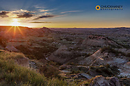 Sunset over Painted Canyon in Theodore Roosevelt National Park, North Dakota, USA