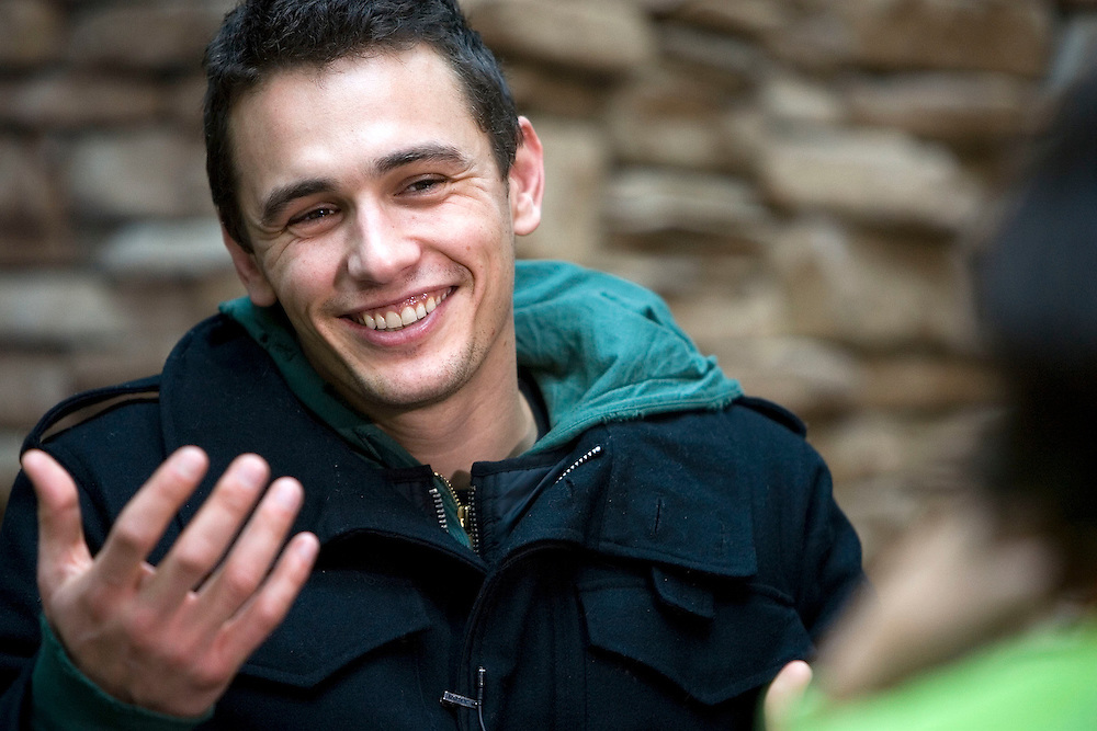 Actor James Franco who stared in the Spiderman films is interviewed by a film crew at the Marriott Hotel during the Sundance Film Festival Saturday Jan. 20, 2007 in Park City, Utah.  August Miller/ Deseret Morning News