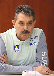 Physiotherapist  Nasif Khalid at press conference before departure of  Slovenian athletics team to European Athletics Indoor Championships Torino 2009, in Ljubljana, Slovenia, on March 4, 2009. (Photo by Vid Ponikvar / Sportida)