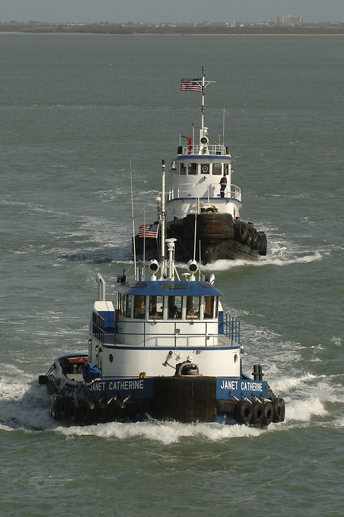 Port Aransas, TX January 15, 2006:  Commercial tugboats ©Bob Daemmrich /