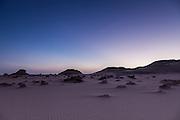 Dusk in the Western Desert, Egypt
