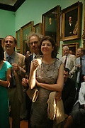 Sigrid Rausing and Eric Abraham. Celebration of Lord Weidenfeld's 60 Years in Publishing hosted by Orion. the Weldon Galleries. National Portrait Gallery. London. 29 June 2005. ONE TIME USE ONLY - DO NOT ARCHIVE  © Copyright Photograph by Dafydd Jones 66 Stockwell Park Rd. London SW9 0DA Tel 020 7733 0108 www.dafjones.com