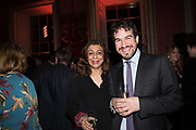 NADIRA NAIPAUL; CHARLIE CAMPBELL, Literary Review Christmas party and Bad SEx Awards. In and Out club. St. James Sq. London. 3 December 2018