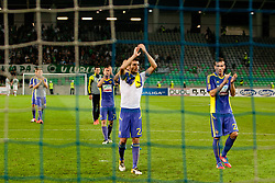 Players of NK Maribor after football match between NK Olimpija and NK Maribor in 5th Round of Prva liga NZS 2012/13, on August 11, 2012 in SRC Stozice, Slovenia. (Photo by Urban Urbanc / Sportida.com)