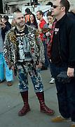 Man dressed as punk rocker, London, England