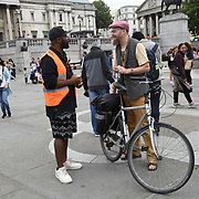 Trafalgar Square, London, England, UK. 18th August 2018. Hundreds of Africans descendant attend the African Holocaust National Memorial - #TimeToRemember2018 My Tribe organizes for the victims of the Transatlantic Slave Trade/African Holocaust. The wound hasn't healed, the nightmare arises repeated of the imperialism and fascist rising in racist attacks in the UK and globally.