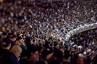 The New York Yankees fans during Game 6 of the 2009 World Series at Yankees Stadium against the Philadelphia Phillies. (Photo by Robert Caplin)