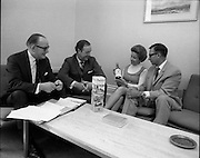 17/07/1970<br /> 07/17/1970<br /> 17 July 1970<br /> Mr. Harry Brown visits Irish Distillers at Bow Street (Jameson) Distillery, Dublin. Mr. Brown was touring the facilities. Mr. Brown is shown a bottle and packaging of Paddy whiskey.