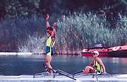 Barcelona,  SPAIN, AUS M2X  left Peter ANTONIE and Stephen HAWKINS, 1992 Olympic Regatta. Lake Banyoles, Nr Barcelona SPAIN,  [Photo, Peter Spurrier/Intersport-images]