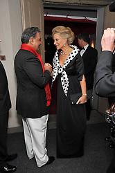 HRH PRINCESS MICHAEL OF KENT and THE MAHARAJA GAJ SINGH I I OF MARWAR- JODHPUR at the Royal Rajasthan Gala 2009 benefiting the Indian Head Injury Foundation held at The Banqueting House, Whitehall, London on 9th November 2009.