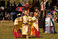 Young, powwow, Fancy Shawl Dancer, Crow Fair, Crow Indian Reservation, Montana