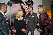 ROLF SNOEREN, NATHALIE PRESS, VIKTOR HORSTING AND PRINCESS MABEL OF ORANGE, The private view of exhibition 'The House of Viktor & Rolf', at The Barbican Gallery.  London.  June 17 2008. *** Local Caption *** -DO NOT ARCHIVE-© Copyright Photograph by Dafydd Jones. 248 Clapham Rd. London SW9 0PZ. Tel 0207 820 0771. www.dafjones.com.