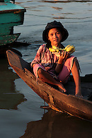 The Tonle Sap is a combined lake/river system of importance to Cambodia and Southeast Asia. The area is home to several communities living in floating villages around the lake.  The stilt and floating villages come into their own during the monsoon seasons, otherwise the lake is shallow and difficult to manage.