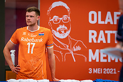 Michael Parkinson #17 of Netherlands in action during the Olaf Ratterman Memorial match between Netherlands vs. Eredivisie All Star team on May 03, 2021 in Barneveld.